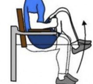 Pujar els genolls alternativament